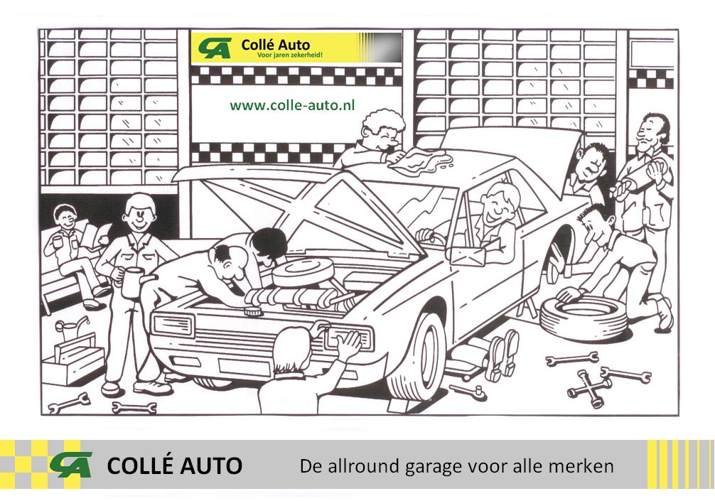 Collé Auto Kleurplaat